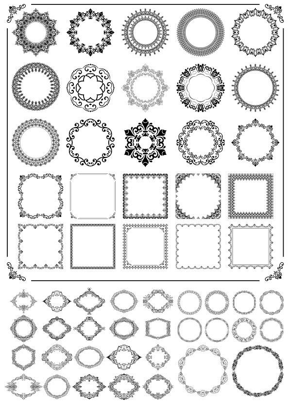 Ornamental Frames Free CDR Vectors Art
