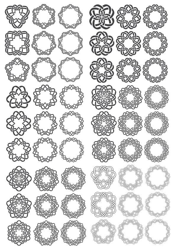 Ornamental Round Decors Free CDR Vectors Art