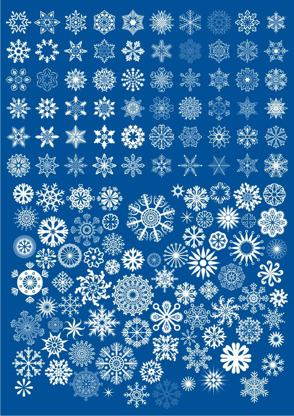 Stars And Snowflakes Ornament Free CDR Vectors Art