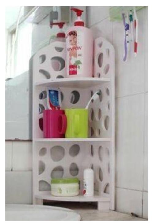 Laser Cut Rack Shelf For Bathroom 3d Puzzle Free CDR Vectors Art