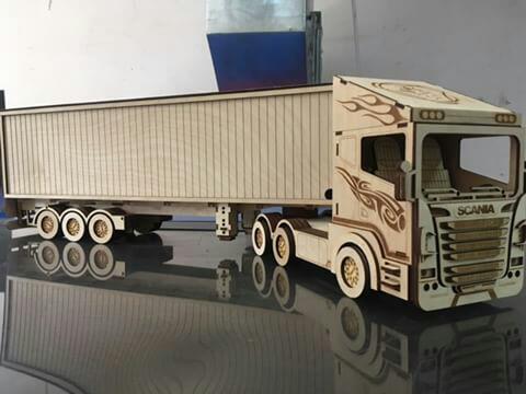 Laser Cut Scania r580 Truck 3d Puzzle Free CDR Vectors Art