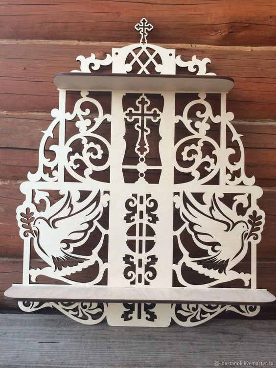 Laser Cut Shelf Decorative 3d Puzzle Free CDR Vectors Art