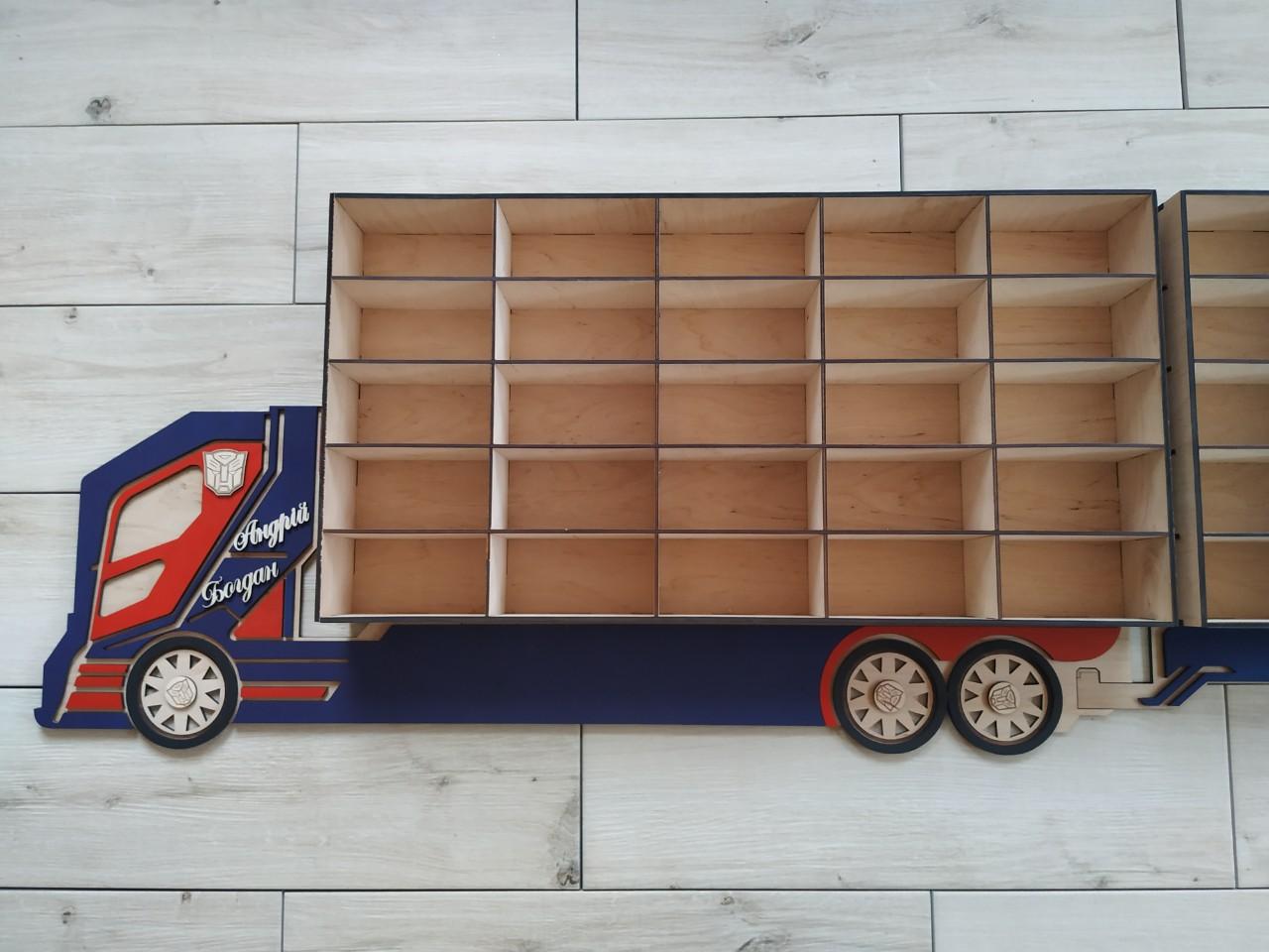 Laser Cut Shelf Truck 3d Puzzle Free CDR Vectors Art
