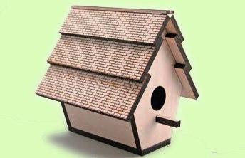 Laser Cut Bird House Free CDR Vectors Art