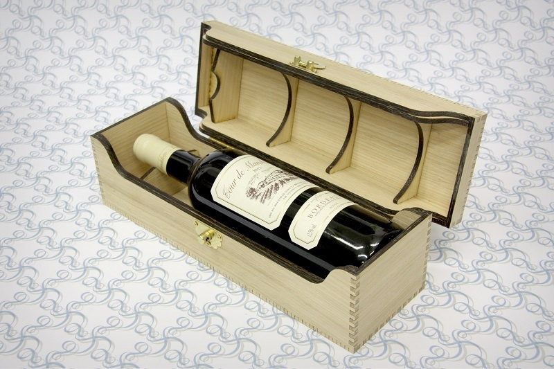 Laser Cut Bottle Box For Alcohol Free CDR Vectors Art