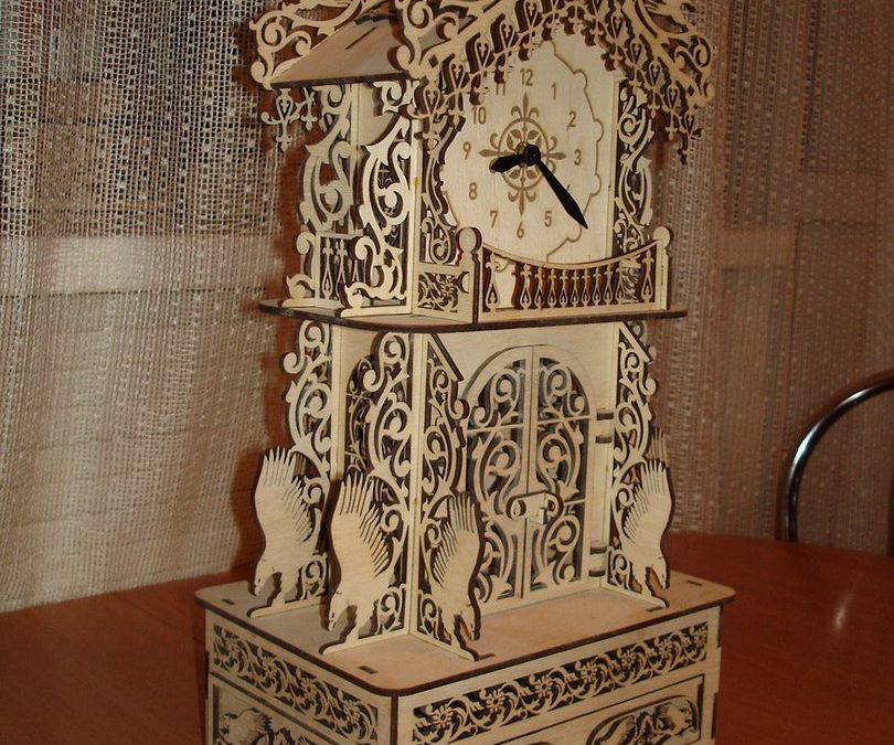 Laser Cut Carved Clock Free CDR Vectors Art