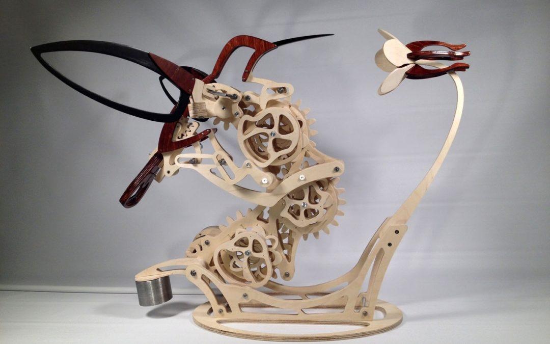 Laser Cut Hummingbird Free CDR Vectors Art