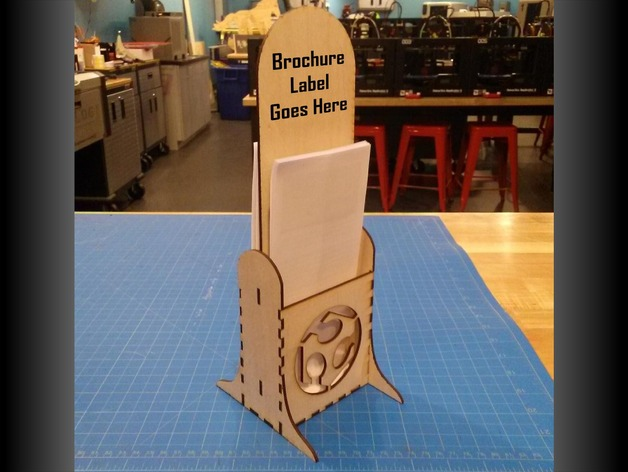 Laser Cut Brochure Stand Free DXF File