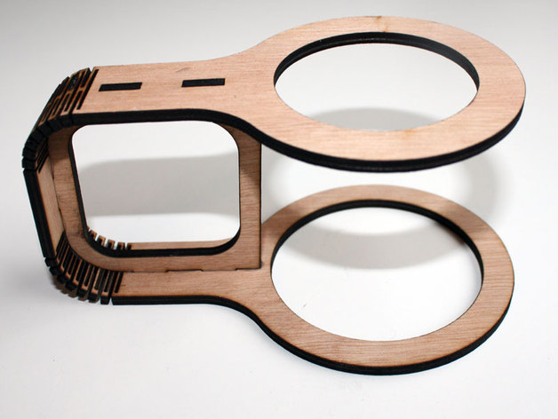 Laser Cut Cup Holder Free DXF File