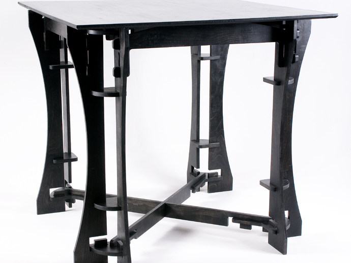 Laser Cut Dining Table Free DXF File