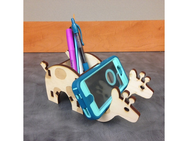 Laser Cut Giraffe Phone Free DXF File