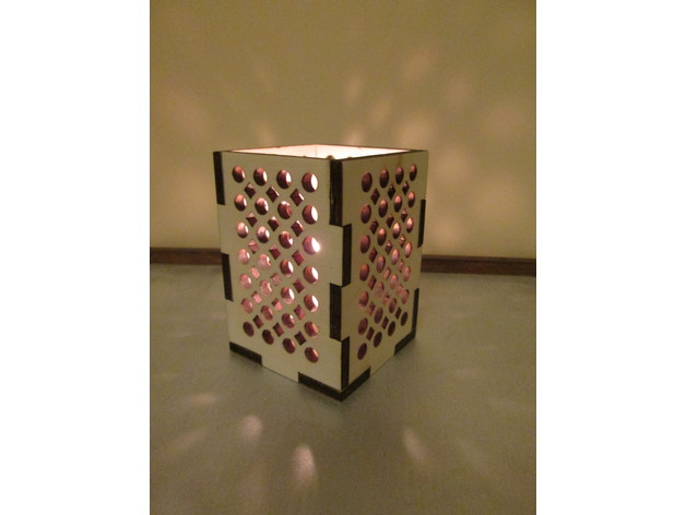 Laser Cut Lamp Box 70x70x80 Free DXF File