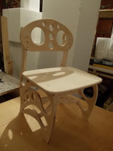 Laser Cut Plywood Children Chair Free DXF File