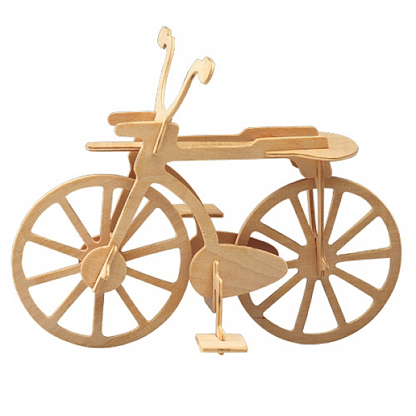 Laser Cut Wooden Bicycle Puzzle Model Free DXF File