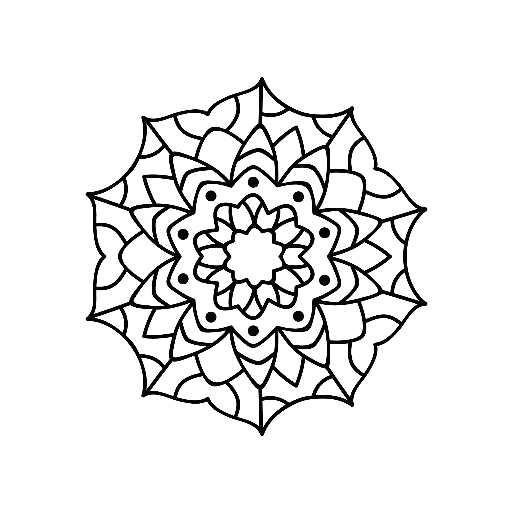 Circle Mandala Ornament Free DXF File