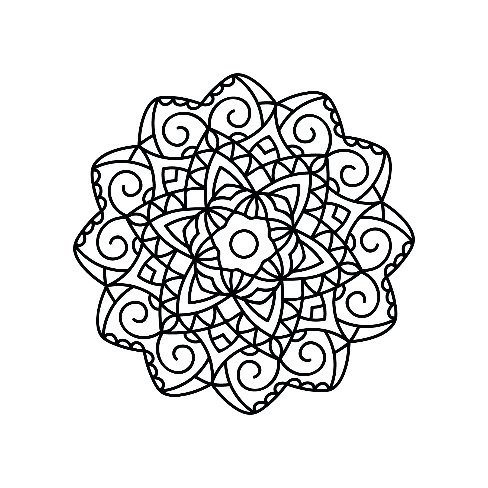 Mandala Vector Ornament Free DXF File