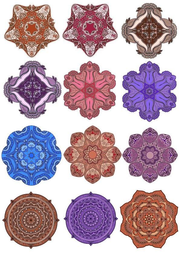 Decorative Round Mandala Vectors Ornament Free CDR Vectors Art