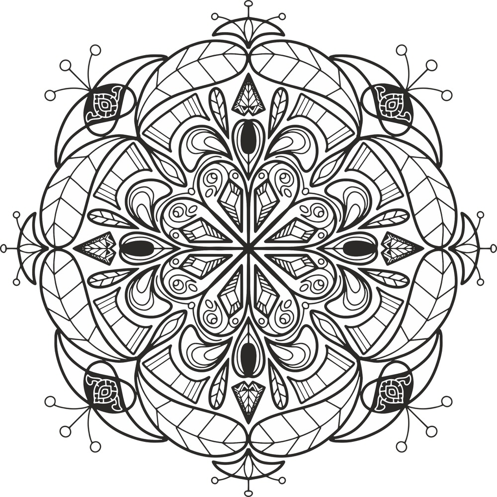 Floral Mandala Design Ornament Free CDR Vectors Art