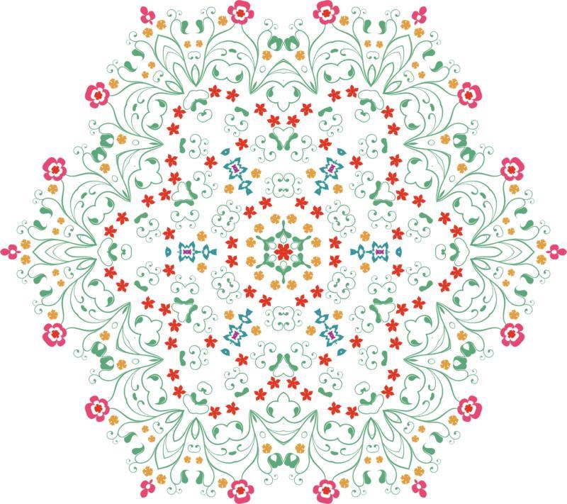 Flower Mandala Ornament Free CDR Vectors Art