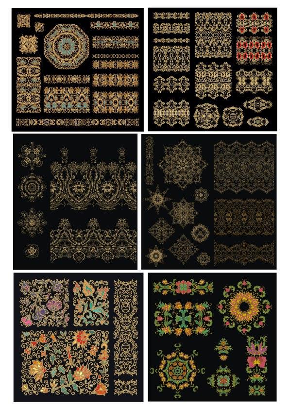 Golden Mandala Luxury Design Elements Ornament Free CDR Vectors Art