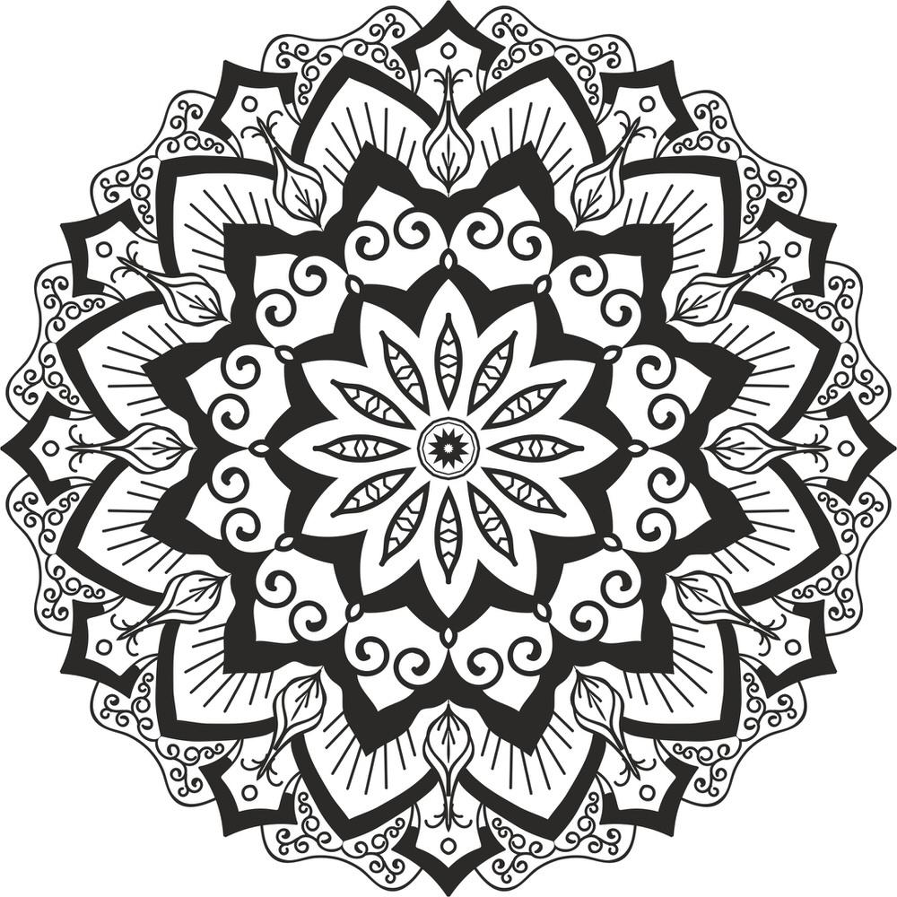 Mandala Cut Design Ornament Free CDR Vectors Art