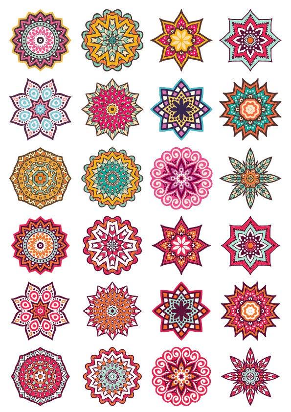 Mandala Decorative Elements Ornament Free CDR Vectors Art