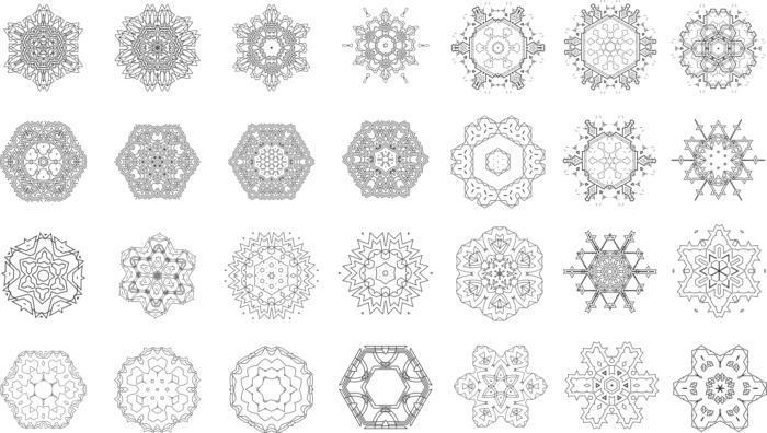 Mandalas Vector Set Ornament Free CDR Vectors Art