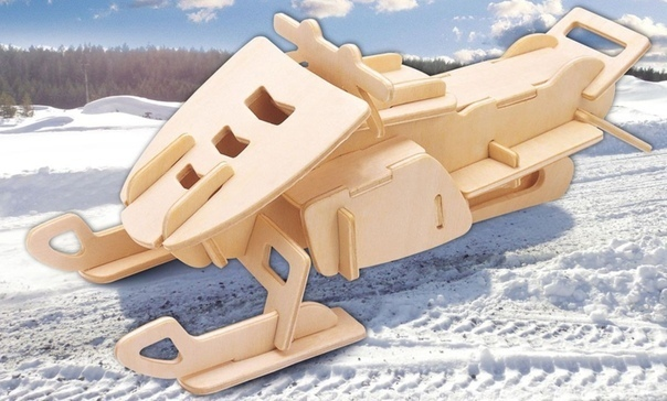 Laser Cut Snowmobile Model Free CDR Vectors Art