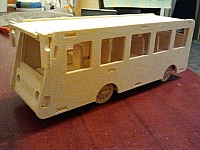 Bus 3mm Laser Cut Free DXF File