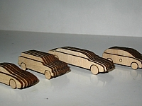 Laser Cut Out Wooden Scale Cars Free DXF File