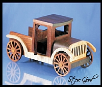 Old Car Laser Cut Free DXF File