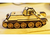 t34 Wooden Laser Cut Free CDR Vectors Art