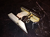 Tie Advanced Fighter Laser Cut Free DXF File