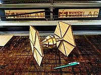 Tie Fighter Laser Cut Free DXF File