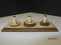 Wooden Tower Of Hanoi Laser Cut Discs Base And Posts Free DXF File
