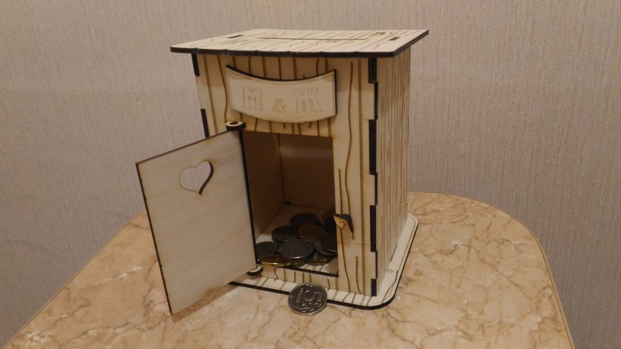 Laser Cut Toilet Piggy Bank 3d Puzzle Free CDR Vectors Art