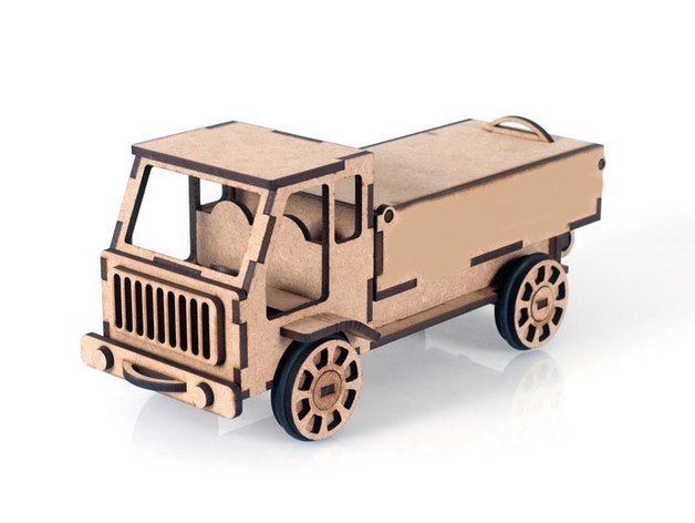 Laser Cut Truck Free CDR Vectors Art