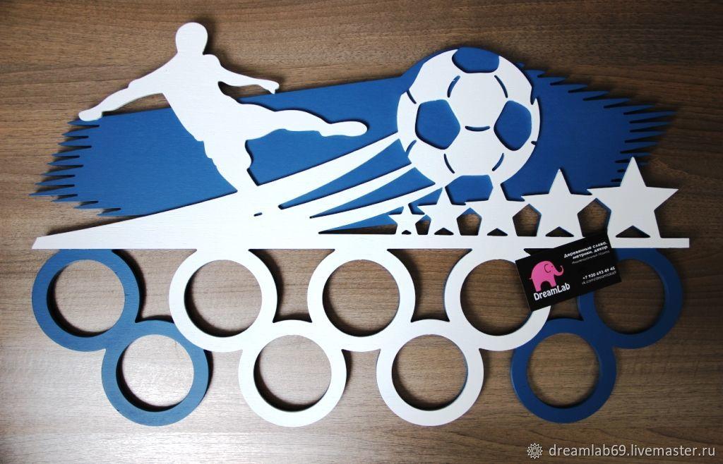 Medalnitsa Futbolist Medals Hanger Laser Cut 3d Puzzle Free CDR Vectors Art