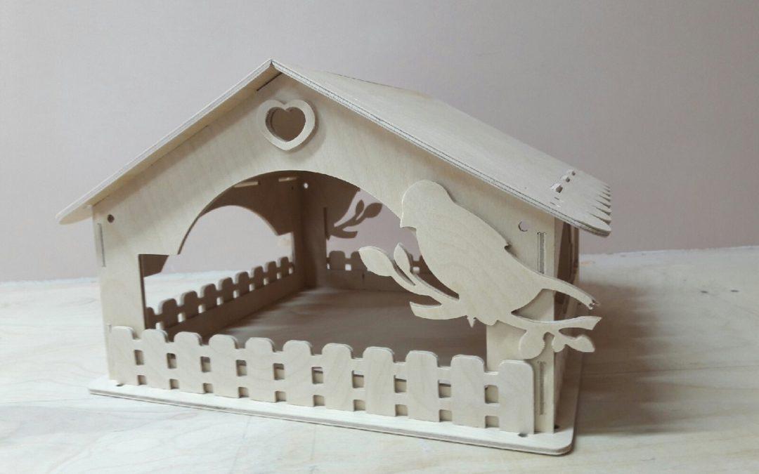 Laser Cut Wooden Bird House Free CDR Vectors Art