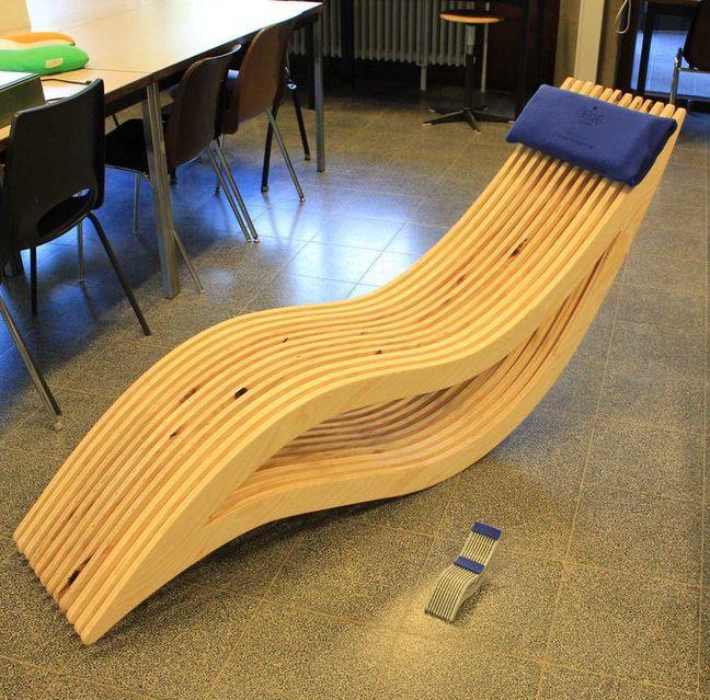 Laser Cut Wooden Rest Chair Free CDR Vectors Art