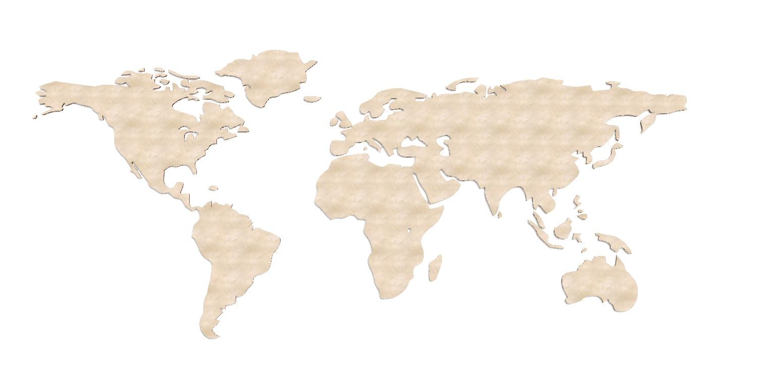 Laser Cut World Map 3d Puzzle Free CDR Vectors Art