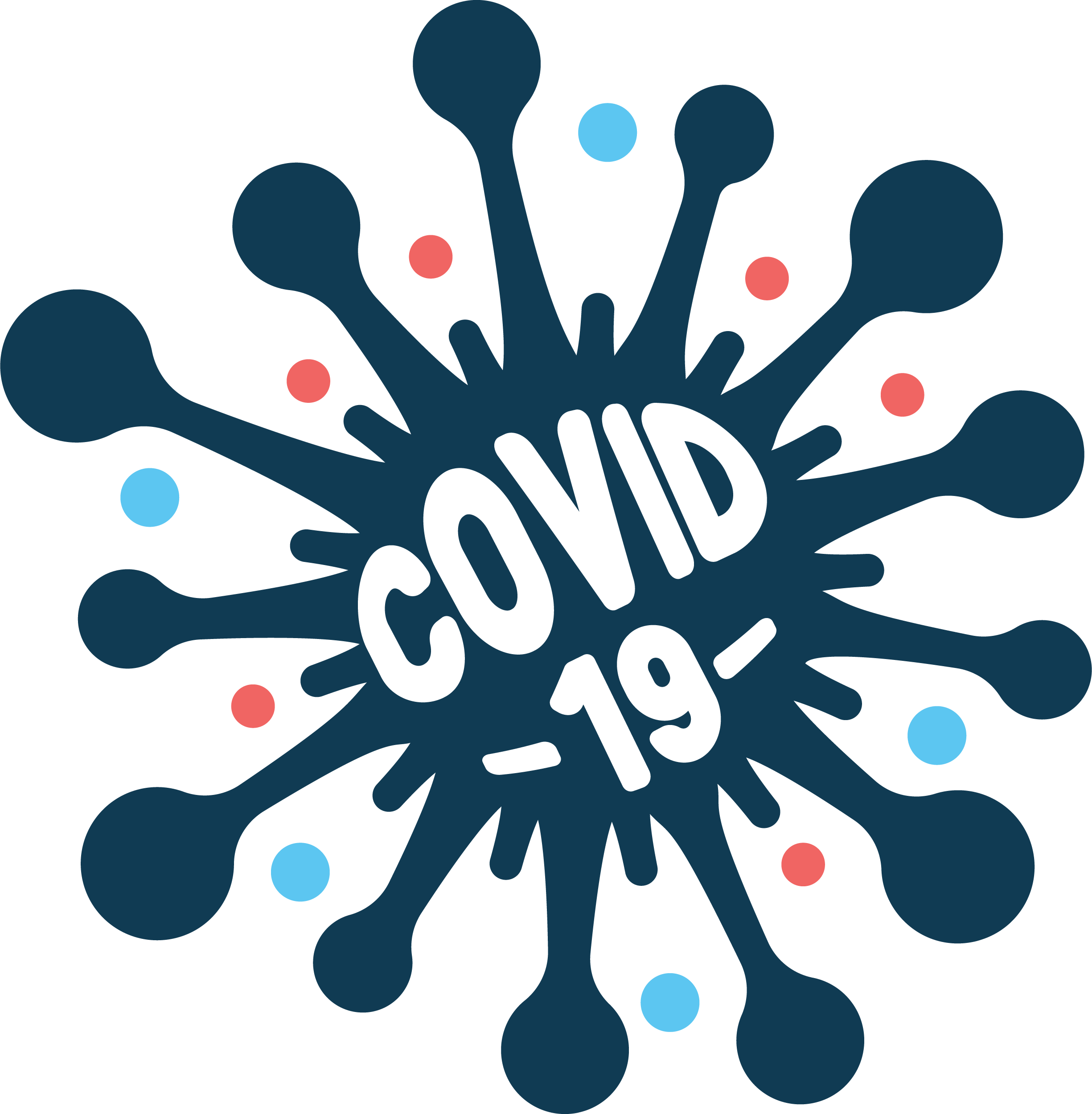 Coronavirus Disease covid-19 Blue Free DXF File