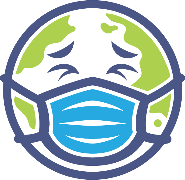 Earth Wearing Mask Free DXF File