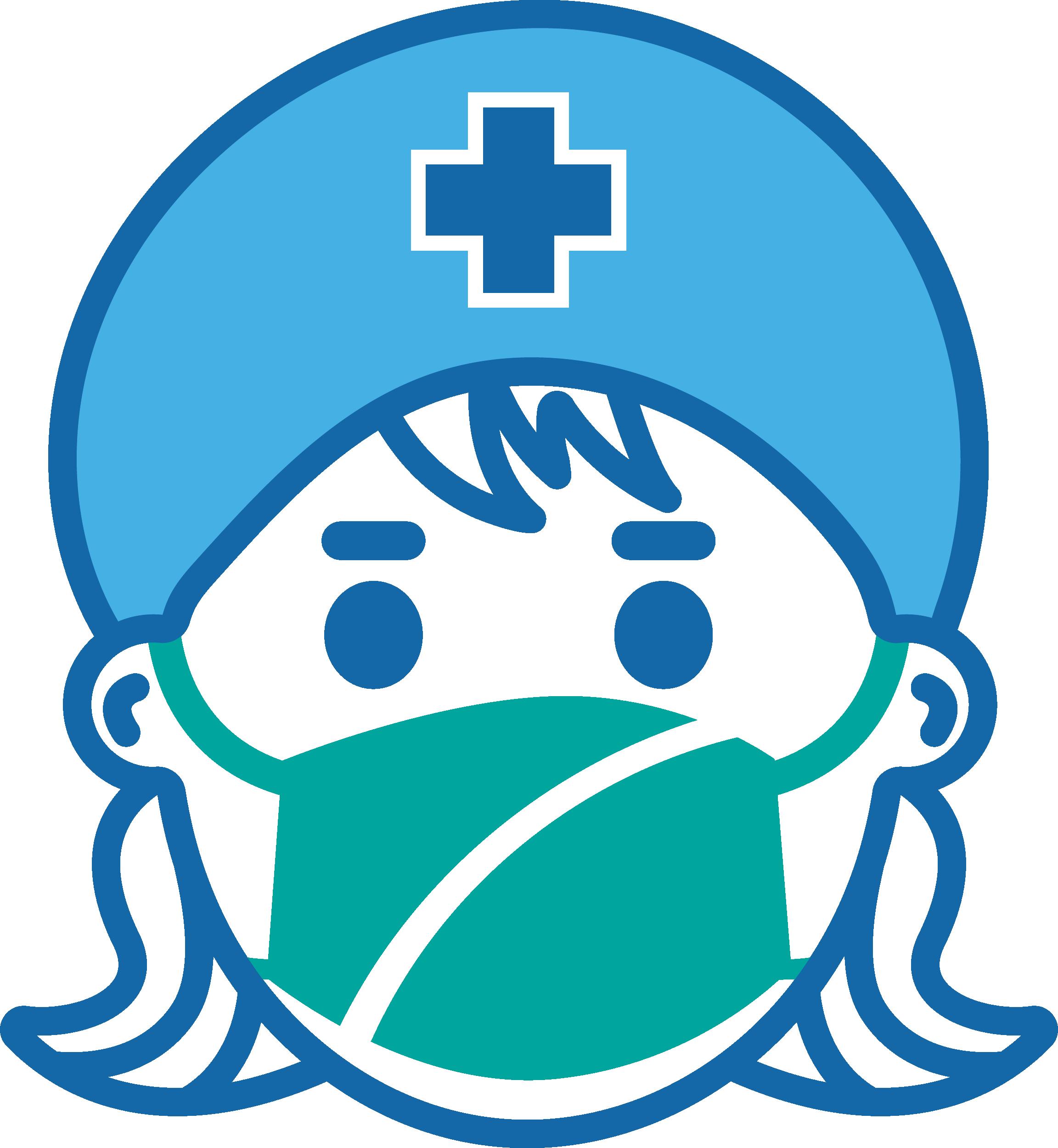Female Nurse With Mask Free DXF File