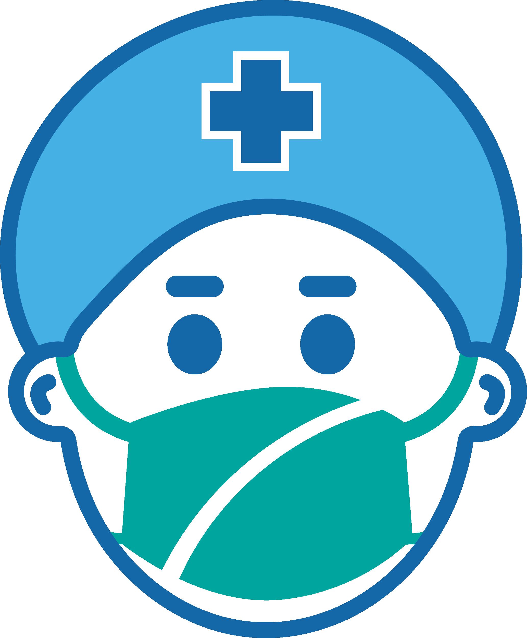 Male Nurse With Mask Coronavirus Disease covid-19 Free DXF File