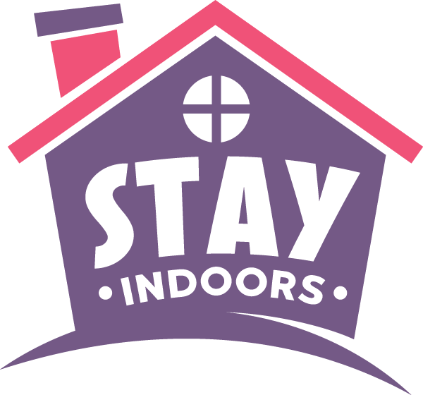 Stay Indoors Stay Safe covid-19 Free DXF File
