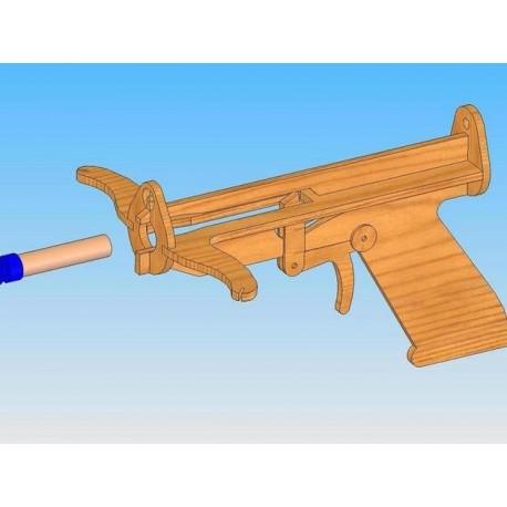 Laser Cut Crossbow Template Free CDR Vectors Art