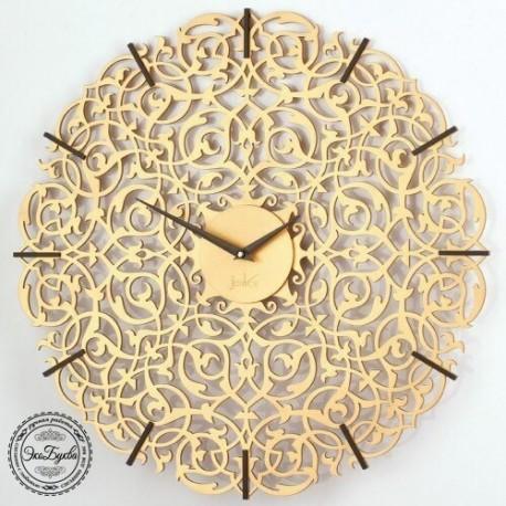Laser Cut Decorative Wall Clock Template Free CDR Vectors Art