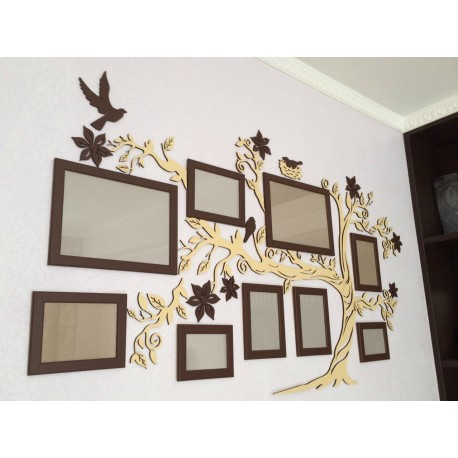 Laser Cut Family Tree Photo Frames Free CDR Vectors Art