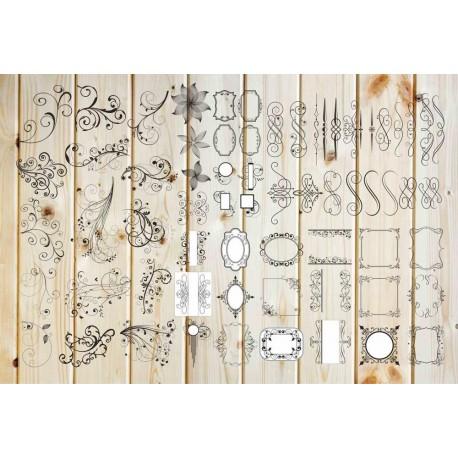 Curlicues Art Free CDR Vectors Art